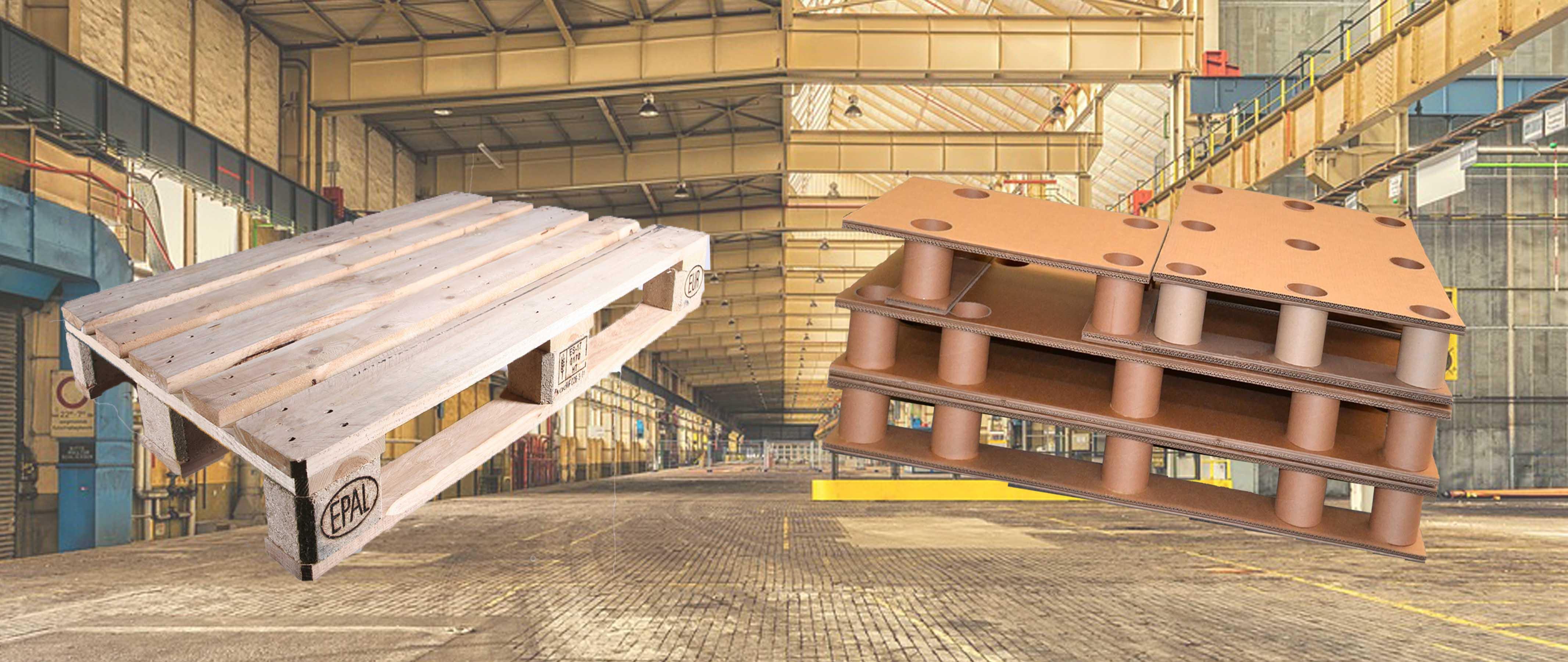 el palet de cartn vs el palet de madera