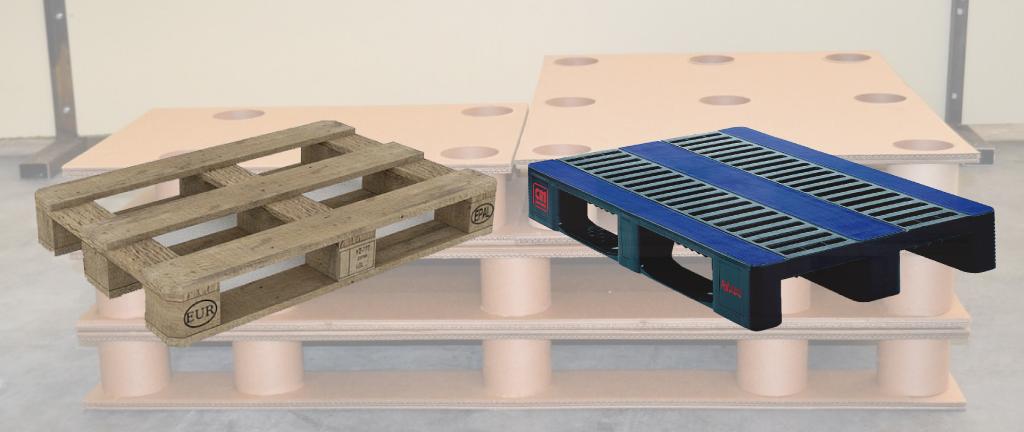 upalet palet carton madera plastico